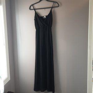 🌞 H&M Divided Black Sheer Maxi Cami Dress   2